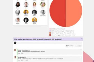 Howspace facilitation tool screenshot